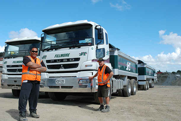 John Fillmore Contracting FUSO trucks